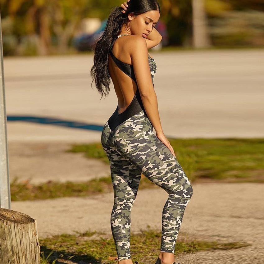 Color-blocking Camouflage Fitness Costume leggings BQ Emporium