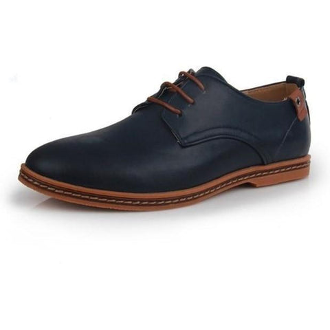 Image of Hot Patent Leather Oxford Shoes shoes BQ Emporium Blue 6