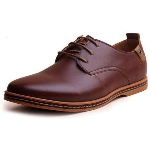 Image of Hot Patent Leather Oxford Shoes shoes BQ Emporium Brown 6