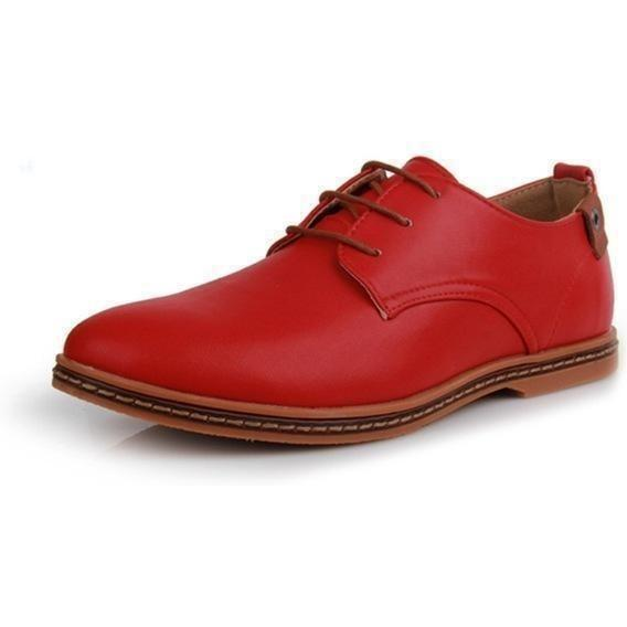 Hot Patent Leather Oxford Shoes shoes BQ Emporium Red 6
