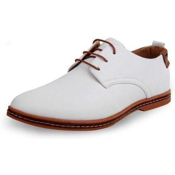 Hot Patent Leather Oxford Shoes shoes BQ Emporium White 6