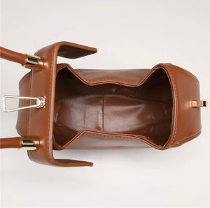 Round Dumpling Leather Handbag