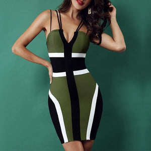 Maya - Spaghetti Strap Bandage Dress