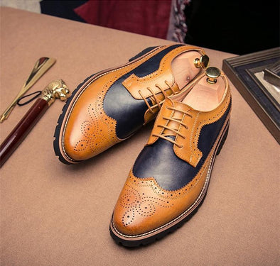 Merkmak British-Style Brogue Shoes shoes BQ Emporium