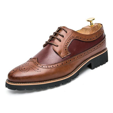 Merkmak British-Style Brogue Shoes shoes BQ Emporium Brown Shoes 38