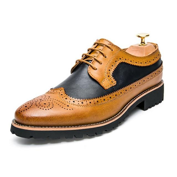 Merkmak British-Style Brogue Shoes shoes BQ Emporium Yellow Shoes 38