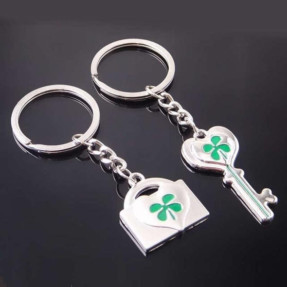 Novelty Chaveiro Couple Keychain BQ Emporium four leaf