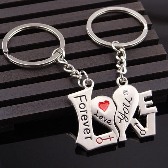 Novelty Chaveiro Couple Keychain BQ Emporium square heart