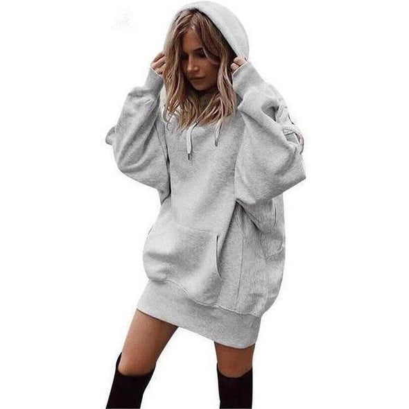 Oversized Sweatshirt with a Pullover Hoodie hoodie BQ Emporium Gray S United States