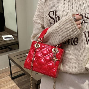 Rivet Diamond Lattice Handbag