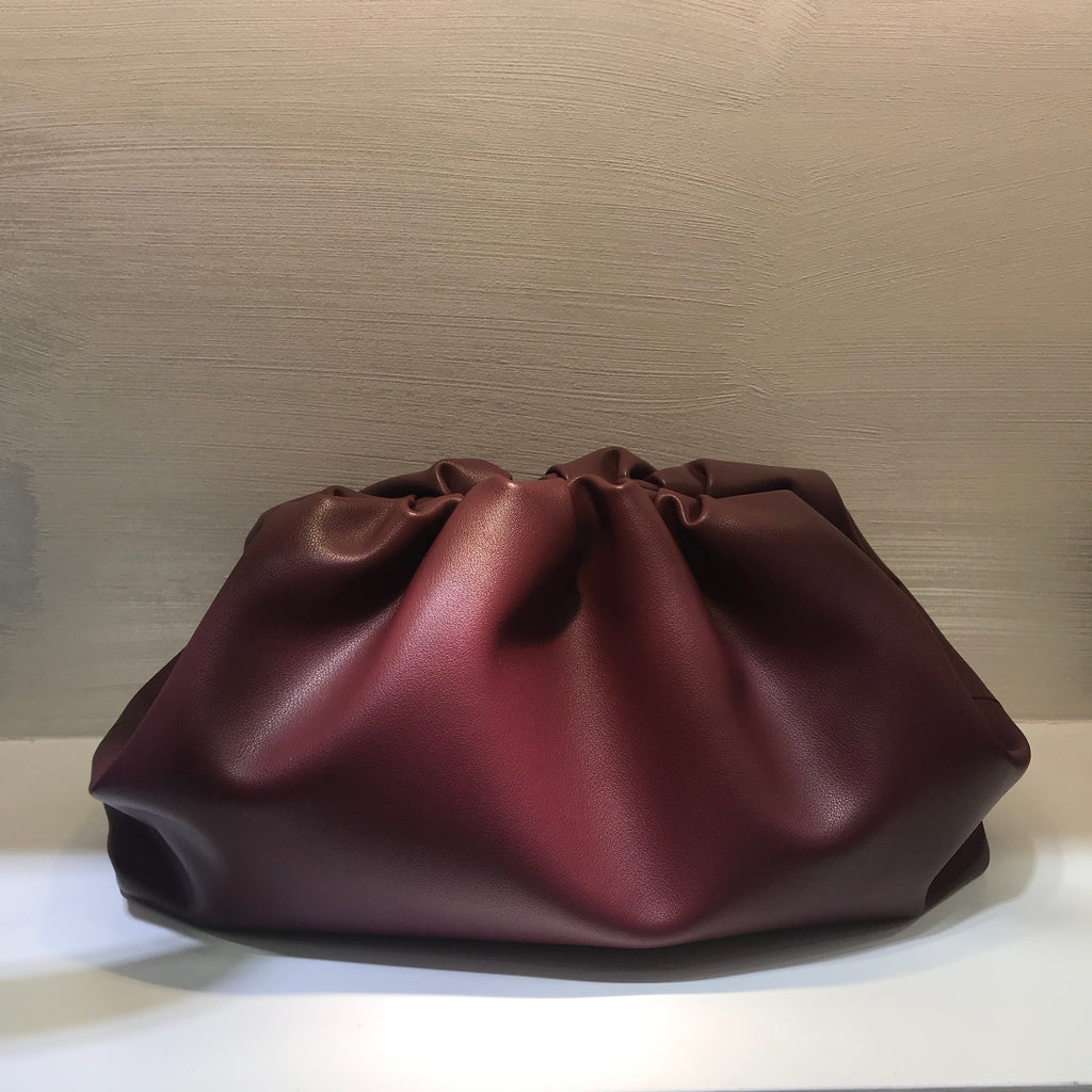 Soft Leather Dumpling Clutch