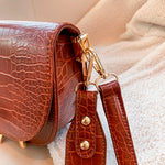 Luxury Crocodile Pattern Crossbody Bag