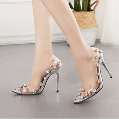 Transparent Rhinestone Stilettos