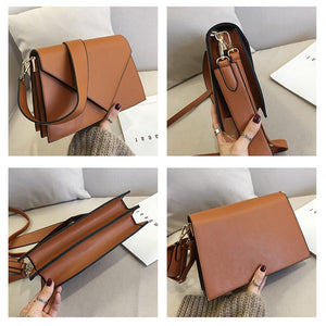 V-shaped Flap Handbag