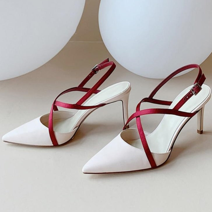 Cross-tied Slingback Pumps