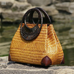 Retro Vase Women's Handbag Woman Handbag BQ Emporium AT04huang
