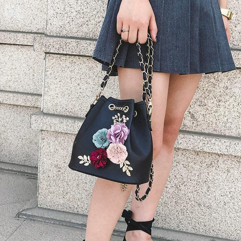 Image of Handmade Bucket-style Crossbody Bag