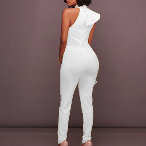 Image of Luxe Sleeveless Ruffle Pant Suits rompers BQ Emporium