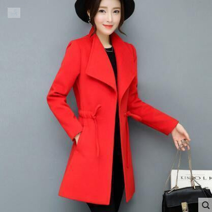 Image of Warm and Casual Mini Coat Coats and Jackets BQ Emporium Red S