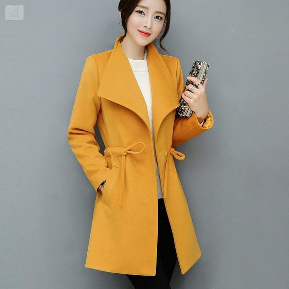 Warm and Casual Mini Coat Coats and Jackets BQ Emporium Orange S