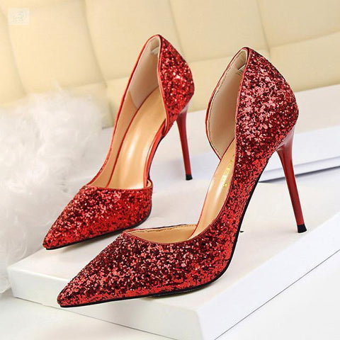 Image of Extreme Extravagance Women's Heels women's shoes BQ Emporium Red 4.5