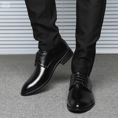 Image of Contemporary Formal Business Oxford Shoes Men's Shoes BQ Emporium Black dress shoes 6.5