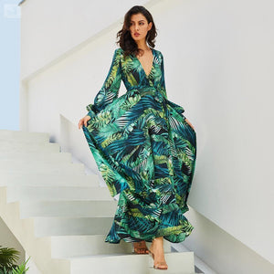 Women's Tropical Beach Maxi Dress