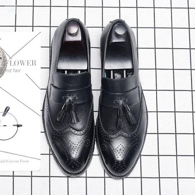Italian Brogue Tassel Shoes shoes BQ Emporium Black 37