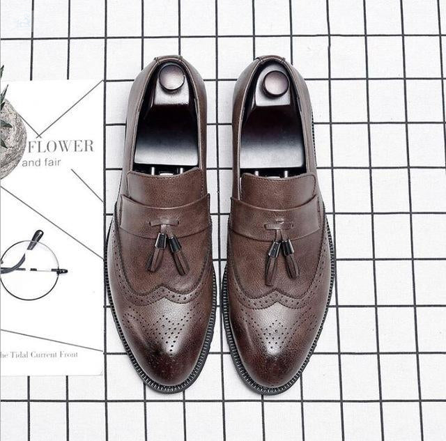 Italian Brogue Tassel Shoes shoes BQ Emporium Brown 37