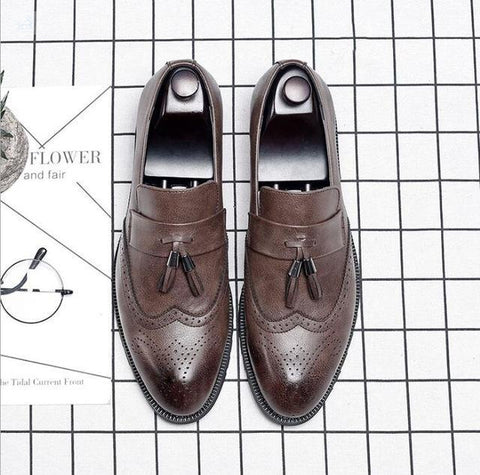 Image of Italian Brogue Tassel Shoes shoes BQ Emporium Brown 37