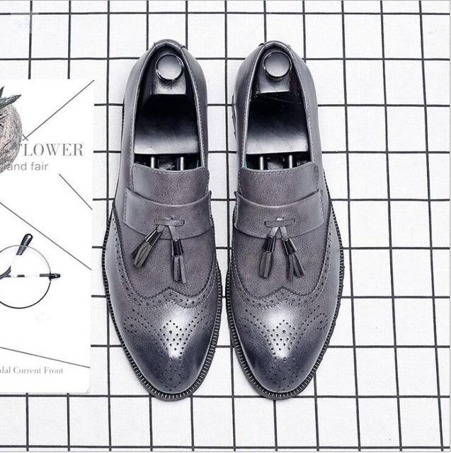 Italian Brogue Tassel Shoes shoes BQ Emporium Gray 37