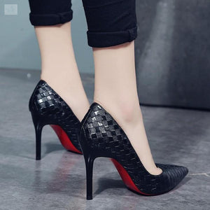 Trendy High Fashion Checkered Shoes-women's shoes-BQ Emporium