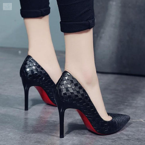 Image of Trendy High Fashion Checkered Shoes-women's shoes-BQ Emporium