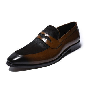 Luxury Brown Penny Loafer Dress Shoes