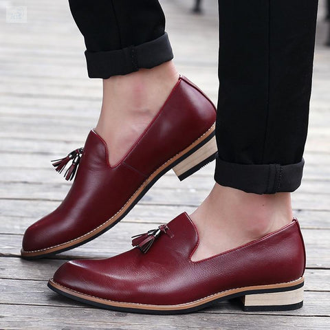 Image of Men's Pointed-Toe Brogue Formal Shoes-shoes-BQ Emporium