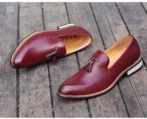 Men's Pointed-Toe Brogue Formal Shoes