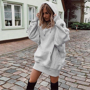 Oversized Sweatshirt with a Pullover Hoodie