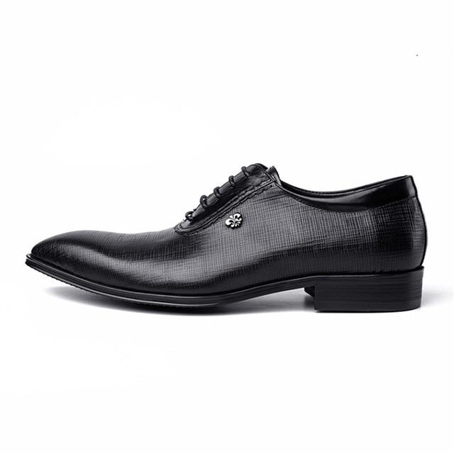 Handmade Genuine Leather Brogue Shoes Men's Shoes BQ Emporium black 6.5