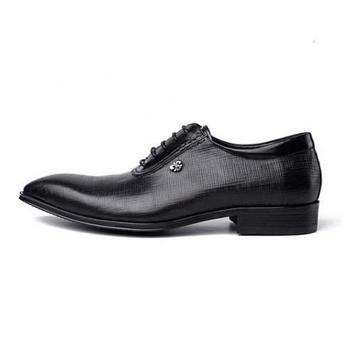 Image of Handmade Genuine Leather Brogue Shoes Men's Shoes BQ Emporium black 6.5