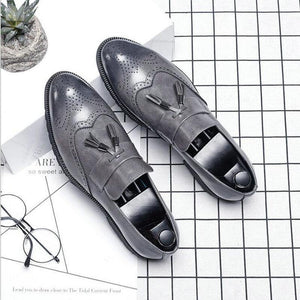 Italian Brogue Tassel Shoes-shoes-BQ Emporium