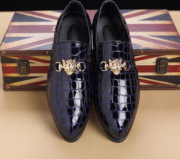 Luxury Crocodile Grain Slip-On Oxford Shoes shoes BQ Emporium