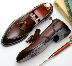 Bullock Genuine Leather Tassel Shoes