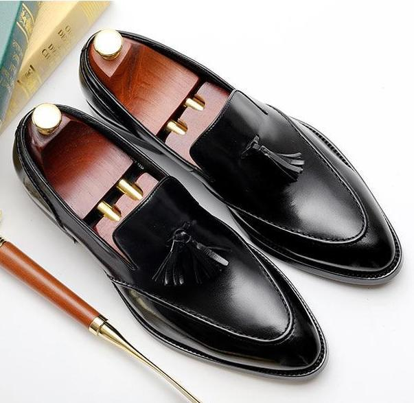 Bullock Genuine Leather Tassel Shoes Men's Shoes BQ Emporium black 7