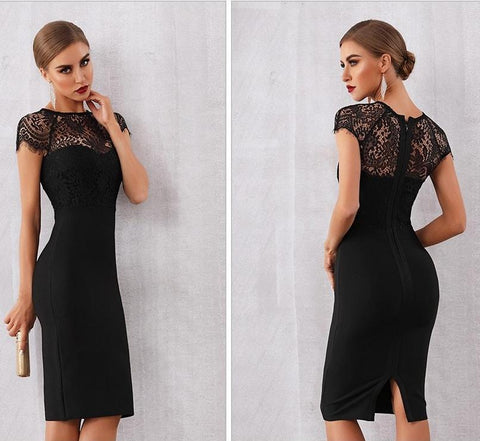 Image of Bandage-design Lace Evening Dress dress BQ Emporium