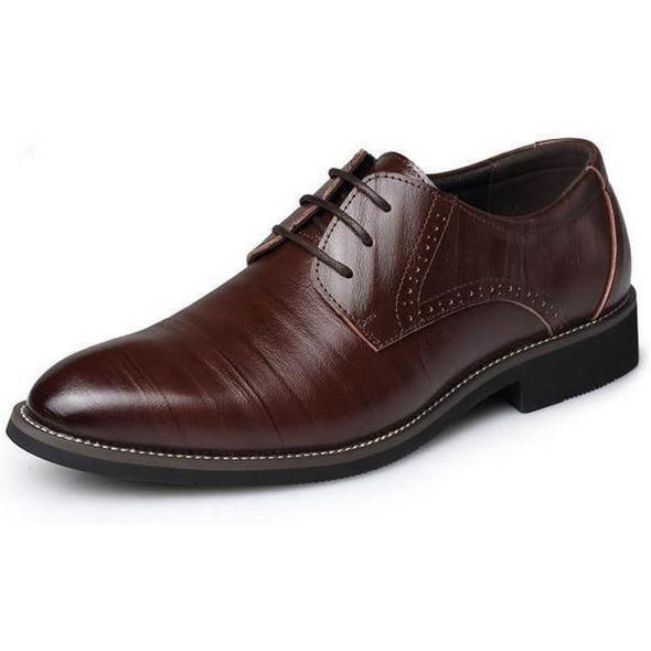 Sleek Oxford Leather Shoes shoes BQ Emporium dark brown shoes 6