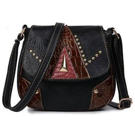 Vintage Hollow-Out Crossbody Bags handbag BQ Emporium black (20cm<Max Length<30cm)