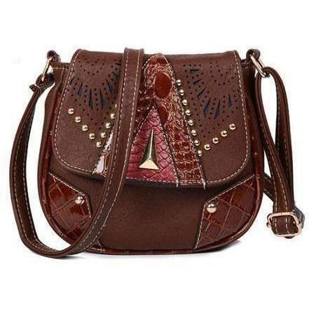 Image of Vintage Hollow-Out Crossbody Bags handbag BQ Emporium dark brown (20cm<Max Length<30cm)