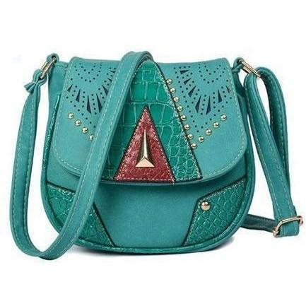 Image of Vintage Hollow-Out Crossbody Bags handbag BQ Emporium light blue (20cm<Max Length<30cm)