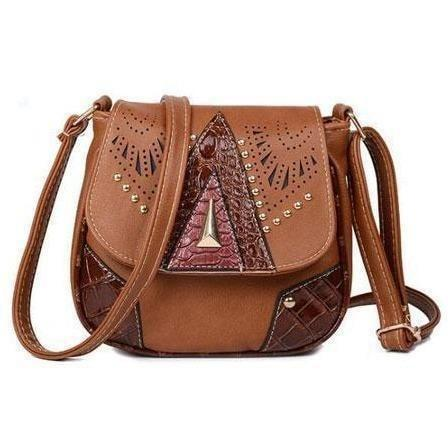 Image of Vintage Hollow-Out Crossbody Bags handbag BQ Emporium light brown (20cm<Max Length<30cm)