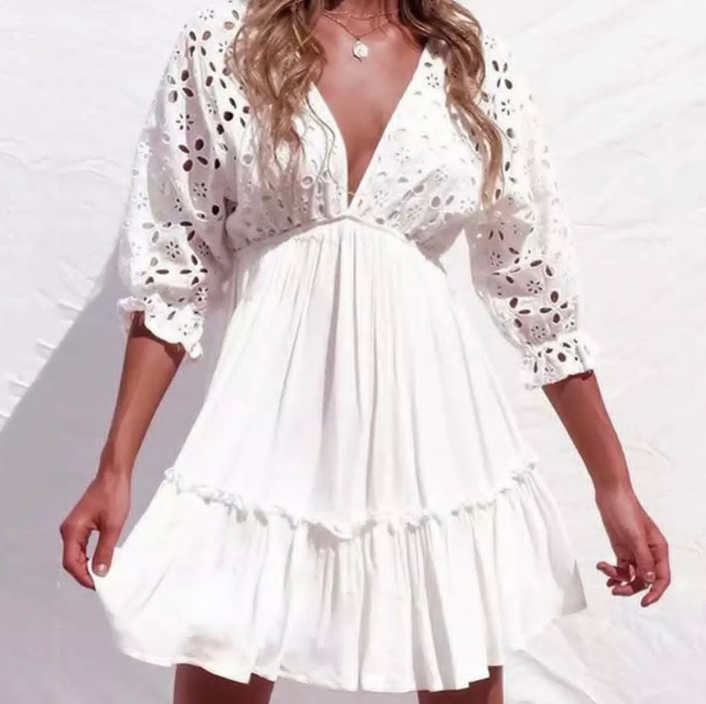 White Delight Beach Dress dress BQ Emporium